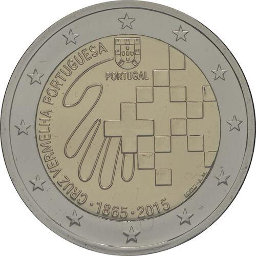 Rückseite :Portugal : 2 Euro 150 Jahre Rotes Kreuz  2015 Stgl.
