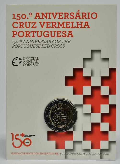 Lieferumfang :Portugal : 2 Euro 150 Jahre Rotes Kreuz  2015 Stgl.