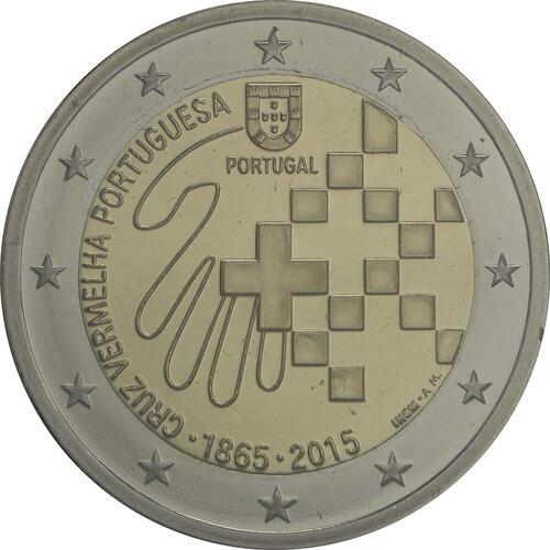 Rückseite:Portugal : 2 Euro 150 Jahre Rotes Kreuz  2015 PP