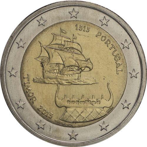 Rückseite:Portugal : 2 Euro 500 Jahre seit dem ersten Kontakt mit Timor  2015 bfr