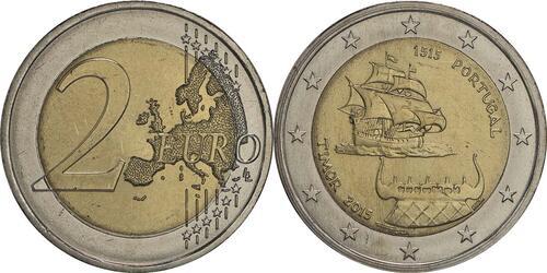 Lieferumfang:Portugal : 2 Euro 500 Jahre seit dem ersten Kontakt mit Timor  2015 bfr