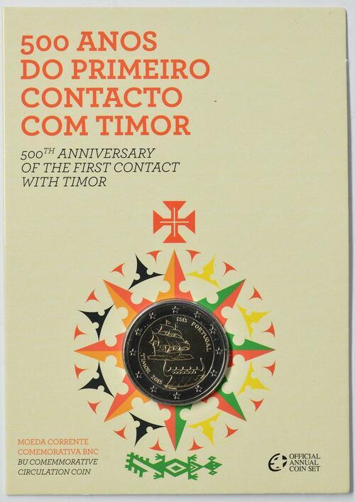 Lieferumfang :Portugal : 2 Euro 500 Jahre seit dem ersten Kontakt mit Timor  2015 Stgl.