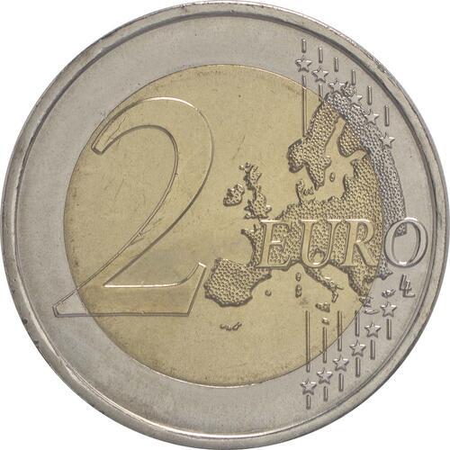 Vorderseite:Portugal : 2 Euro 30 Jahre Europäische Flagge  2015 bfr
