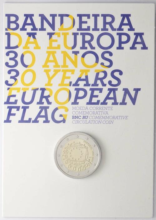 Lieferumfang :Portugal : 2 Euro 30 Jahre Europäische Flagge  2015 Stgl.