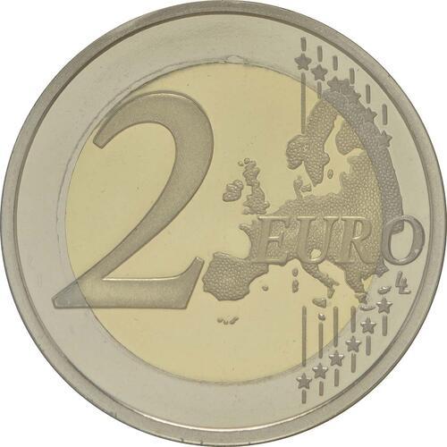 Vorderseite :Portugal : 2 Euro 30 Jahre Europäische Flagge  2015 PP