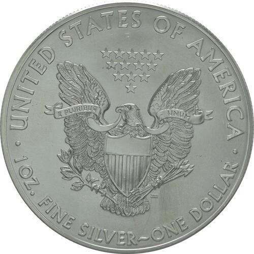 Rückseite :USA : 1 Dollar 1 $ 2015 Silber Eagle 1 oz  2015 Stgl.