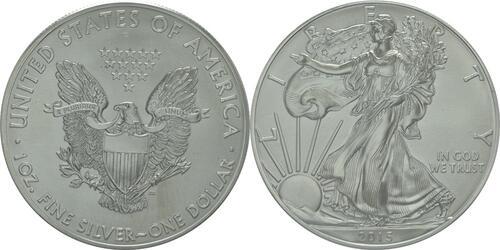 Lieferumfang :USA : 1 Dollar 1 $ 2015 Silber Eagle 1 oz  2015 Stgl.