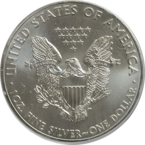 "Rückseite:USA : 1 Dollar Silber Eagle ""Las Vegas"" - farbig  2015 Stgl."