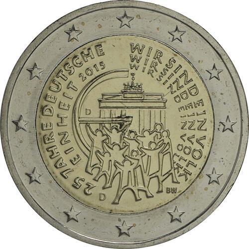 Rückseite:Deutschland : 2 Euro 25 Jahre Deutsche Einheit  2015 bfr