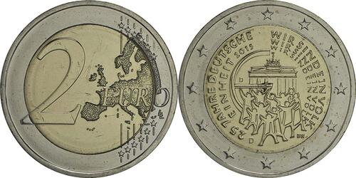 Lieferumfang :Deutschland : 2 Euro 25 Jahre Deutsche Einheit  2015 bfr