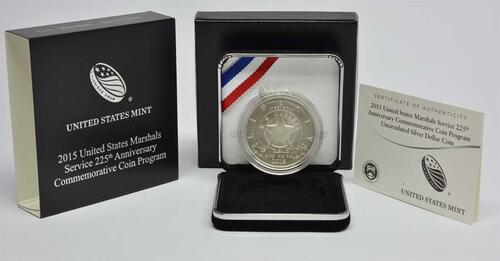 Lieferumfang :USA : 1 Dollar 225 Jahre United States Marshalls  2015 Stgl.