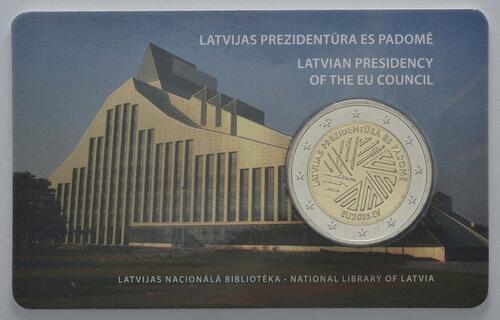Lieferumfang :Lettland : 2 Euro EU Ratspräsidentschaft  2015 Stgl.