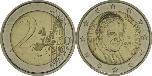 Lieferumfang :Vatikan : 2 Euro Benedikt  2007 vz/Stgl.