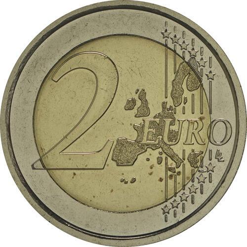 Vorderseite :Vatikan : 2 Euro Benedikt  2007 vz/Stgl.