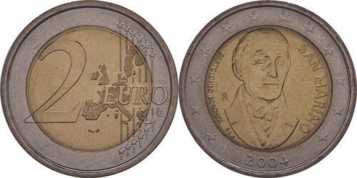 Lieferumfang:San Marino : 2 Euro Bartolomeo Borghesi  2004 vz/Stgl.