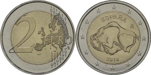 Lieferumfang :Spanien : 2 Euro Altamira  2015 bfr