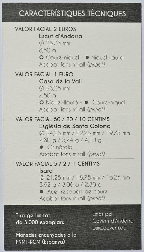 Zertifikat:Andorra : 3,88 Euro KMS Andorra  2014 PP