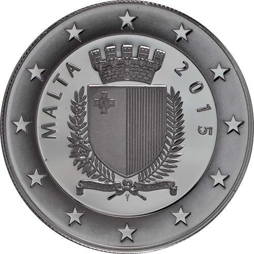 Rückseite:Malta : 10 Euro Fall des eisernen Vorhanges  2015 PP