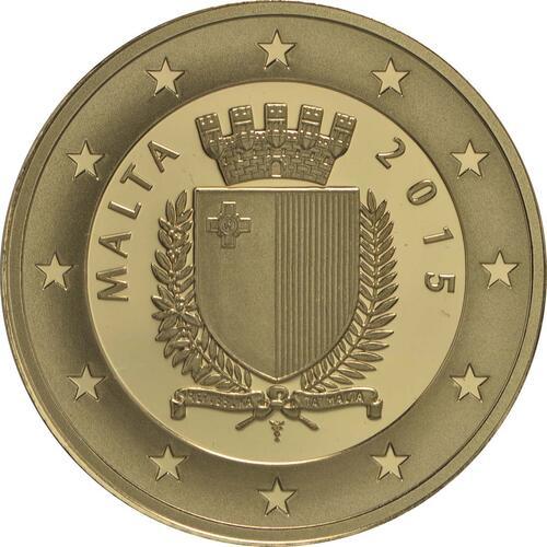 Rückseite:Malta : 50 Euro Fall des eisernen Vorhanges  2015 PP