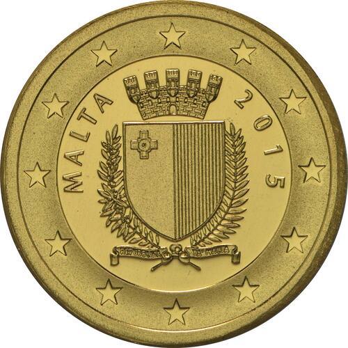 Rückseite:Malta : 15 Euro Auberge de Baviere  2015 PP