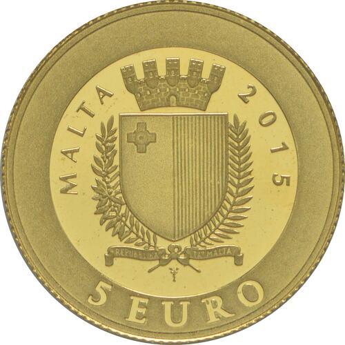 Rückseite:Malta : 5 Euro 3. Farthing  2015 PP
