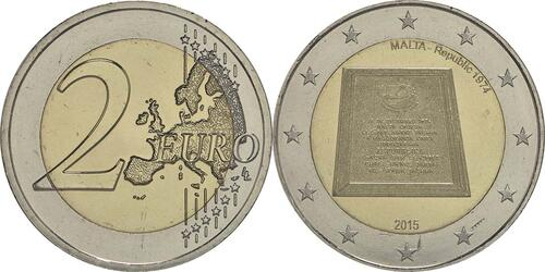 Lieferumfang :Malta : 2 Euro Republik Malta  2015 bfr