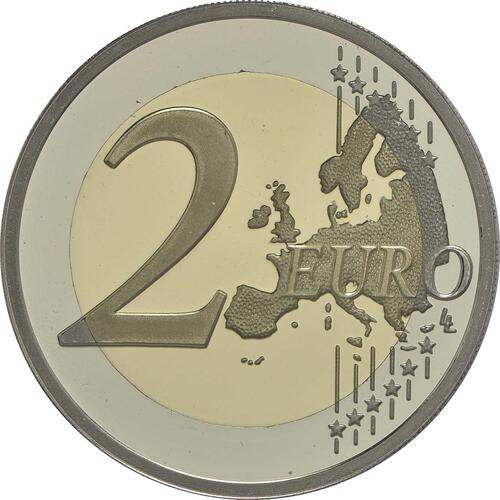 Vorderseite :Malta : 2 Euro Republik Malta  2015 PP