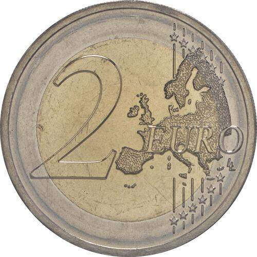 Vorderseite :Malta : 2 Euro 30 Jahre Europäische Flagge  2015 bfr