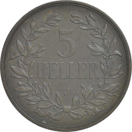 Vorderseite:Deutschland : 5 Heller   1908 vz.