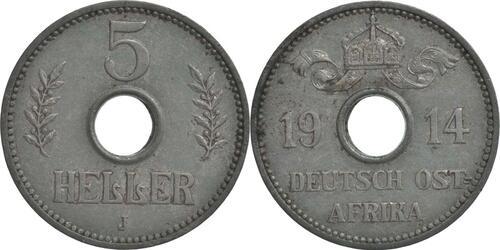 Lieferumfang:Deutschland : 5 Heller   1914 ss.