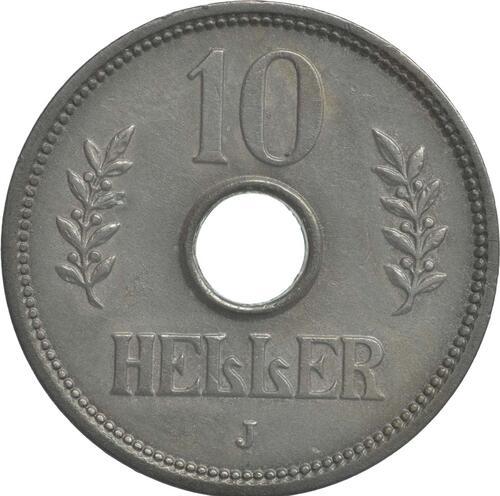 Vorderseite :Deutschland : 10 Heller   1909 vz.