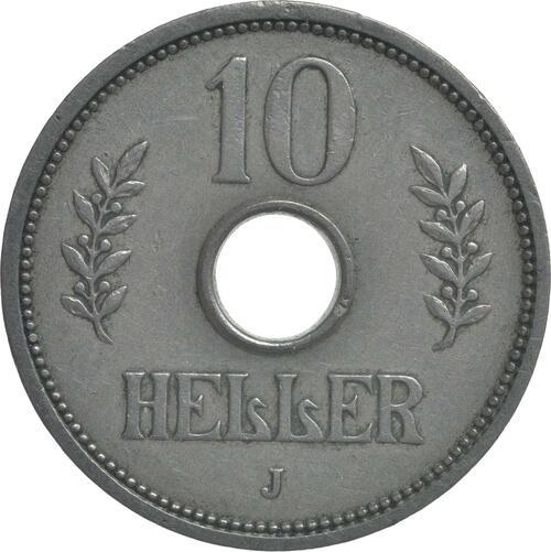 Vorderseite:Deutschland : 10 Heller   1910 ss/vz.