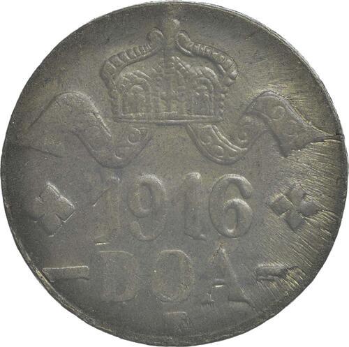 Rückseite :Deutschland : 20 Heller Metall geprüft per Röntgenfluoreszenzanalyse  1916 vz.