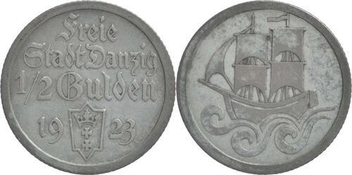 Lieferumfang:Deutschland : 1/2 Gulden  patina 1923 ss/vz.