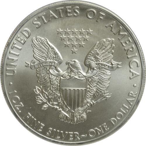 "Rückseite:USA : 1 Dollar Silber Eagle ""The White House""  2015 Stgl."