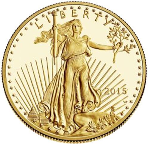 Lieferumfang:USA : 10 Dollar American Eagle 1/4 oz  2015 PP