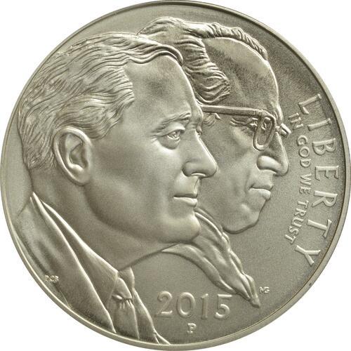 Rückseite:USA : 1 Dollar 75 Jahre March of Dimes - Kinderlähmungs-Stiftung  2015 PP