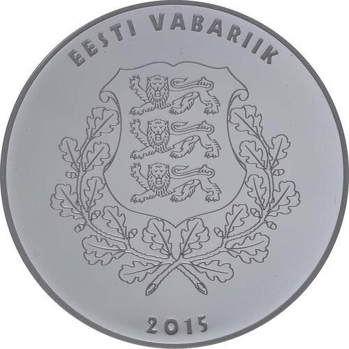 Rückseite:Estland : 10 Euro Eduard Vilde  2015 PP