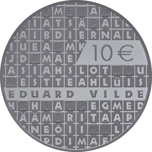Vorderseite:Estland : 10 Euro Eduard Vilde  2015 PP