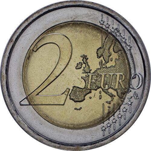 Vorderseite :Italien : 2 Euro Dante Alighieri  2015 bfr
