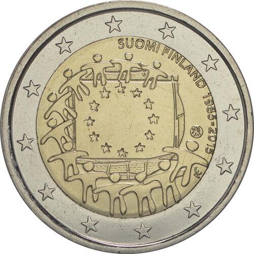 Rückseite :Finnland : 2 Euro 30 Jahre Europäische Flagge  2015 bfr