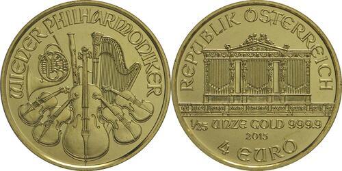 Lieferumfang:Österreich : 4 Euro Philharmoniker  2015 Stgl.