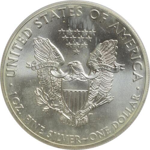"""Rückseite :USA : 1 Dollar Silber Eagle - Singapur - """"Marina""""  2015 Stgl."""