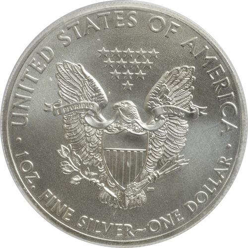 "Rückseite :USA : 1 Dollar Silber Eagle ""Southernmost Point""  2015 Stgl."