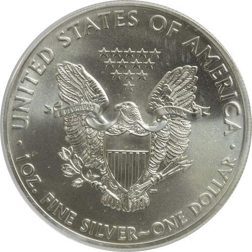 """Rückseite:USA : 1 Dollar Silber Eagle """"World Trade Center One""""  2015 Stgl."""