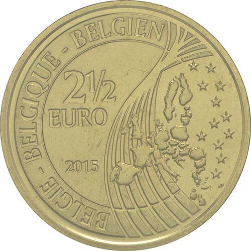 Rückseite:Belgien : 2,5 Euro Schlacht von Waterloo  2015 Stgl.