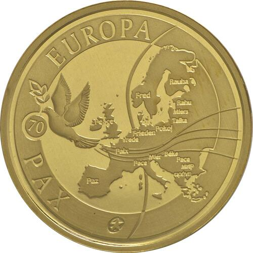Vorderseite:Belgien : 50 Euro 70 Jahre Frieden in Europa  2015 PP