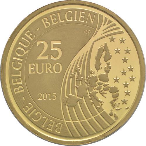 Rückseite:Belgien : 25 Euro Karl V.  2015 PP