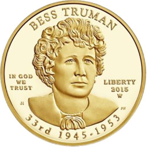 Lieferumfang:USA : 10 Dollar Elisabeth Truman  2015 Stgl.