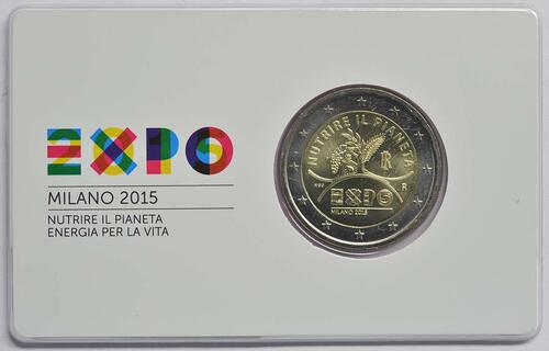 Rückseite :Italien : 2 Euro Expo Mailand  2015 Stgl.